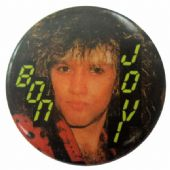 Bon Jovi - 'Jon Headband' Button Badge